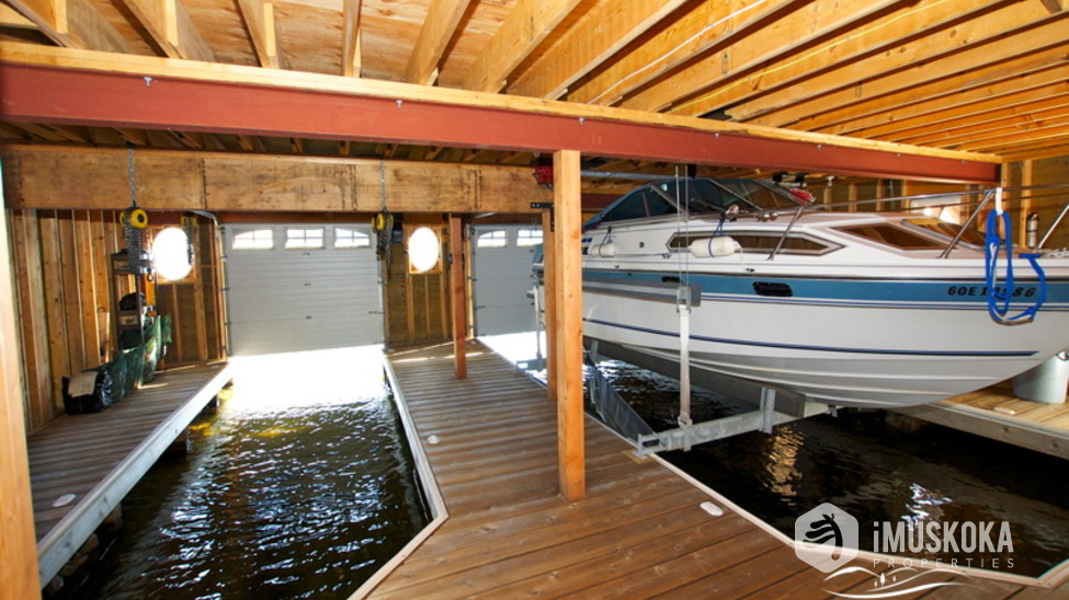 2 Slip lifts keep your boats in pristine condition.