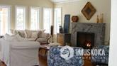Granite Fireplace, Reclaimed Hemlock Flooring