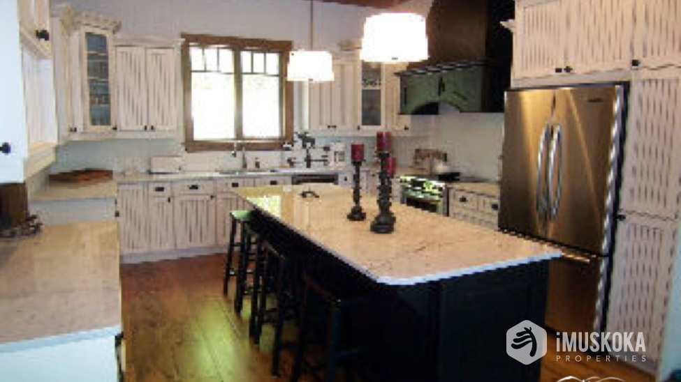 Gourmet Kitchen Granite counters including kitchen island
