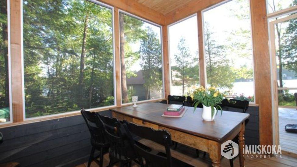 Muskoka Room Muskoka room to enjoy the spring and eat outdoors.