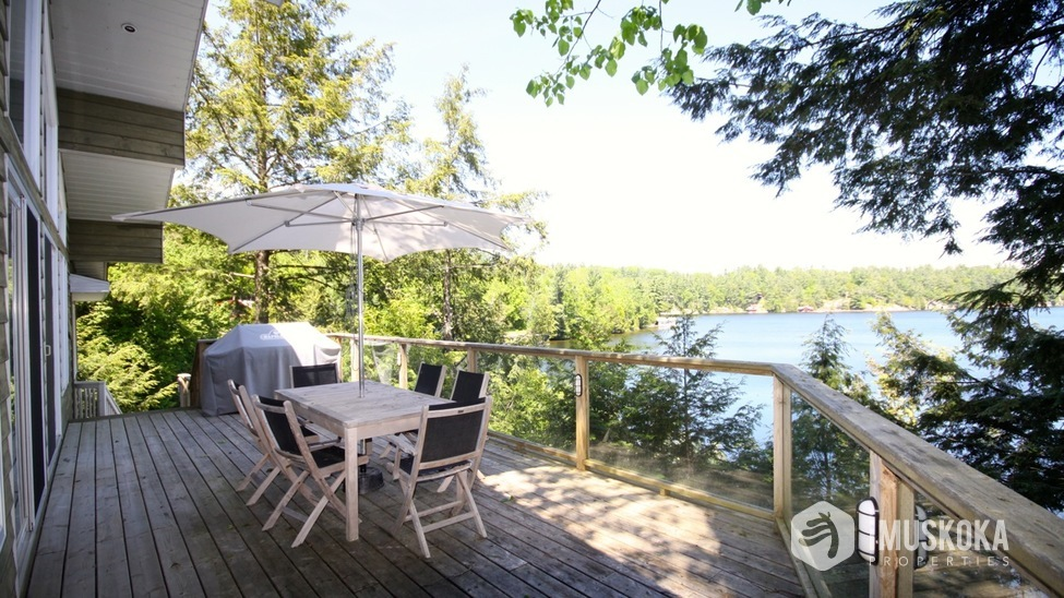 Deck Overlooking Lake Rosseau