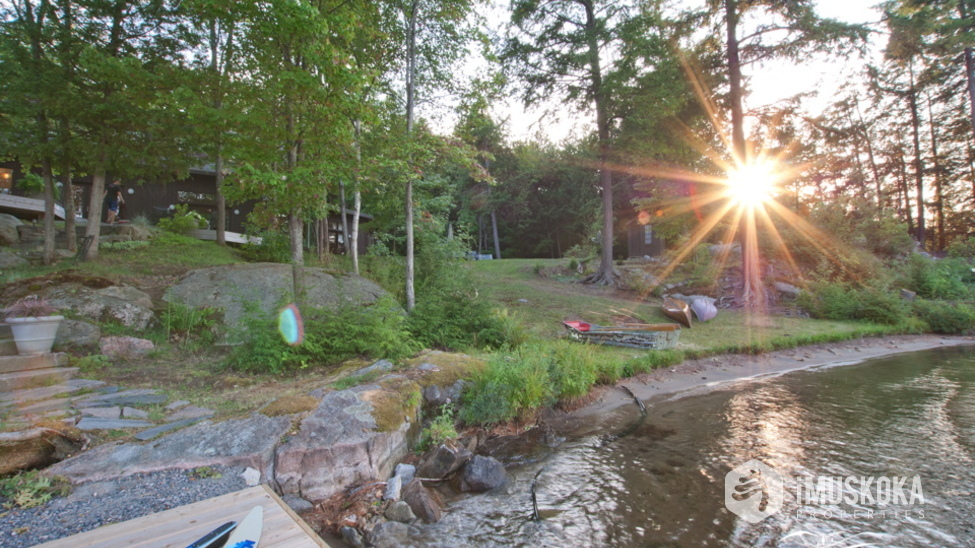 Located in South Lake Rosseau with Sand Beach Area